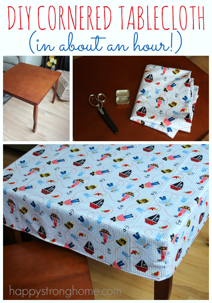 DIY Cornered Tablecloth Tutorial