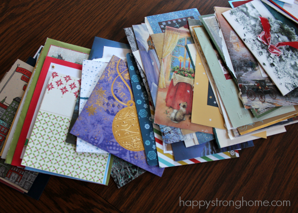 Stack of old greeting cards