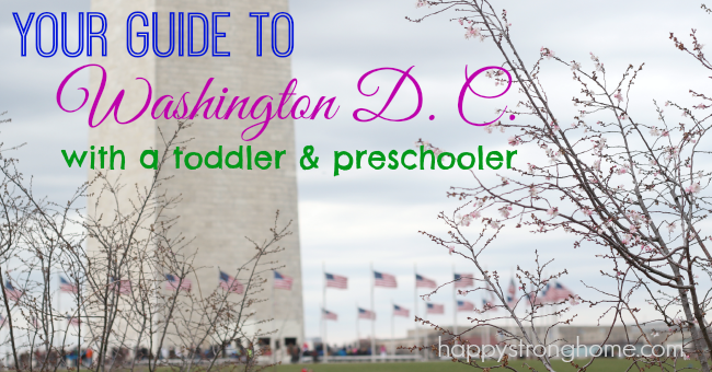 travel washington DC with preschooler