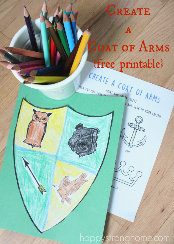 Create A Coat Of Arms Activity Free Printable Happy Strong Home