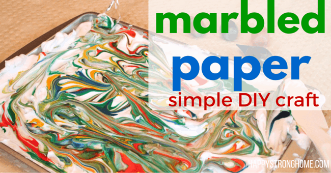 DIY marbled paper craft