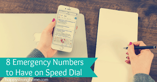 numbers to have on speed dial