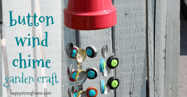 button wind chime craft