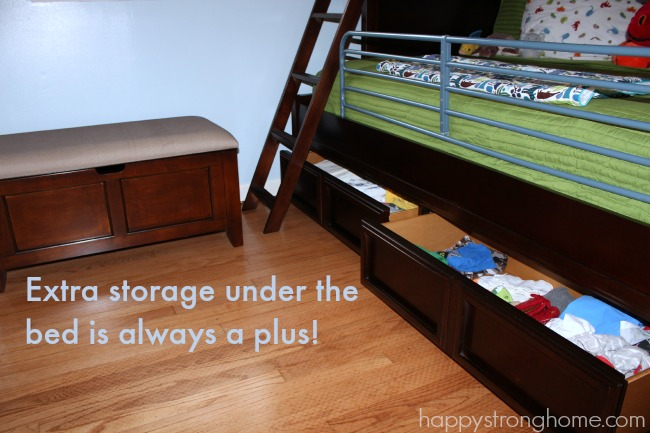 bunk bed bottom drawers