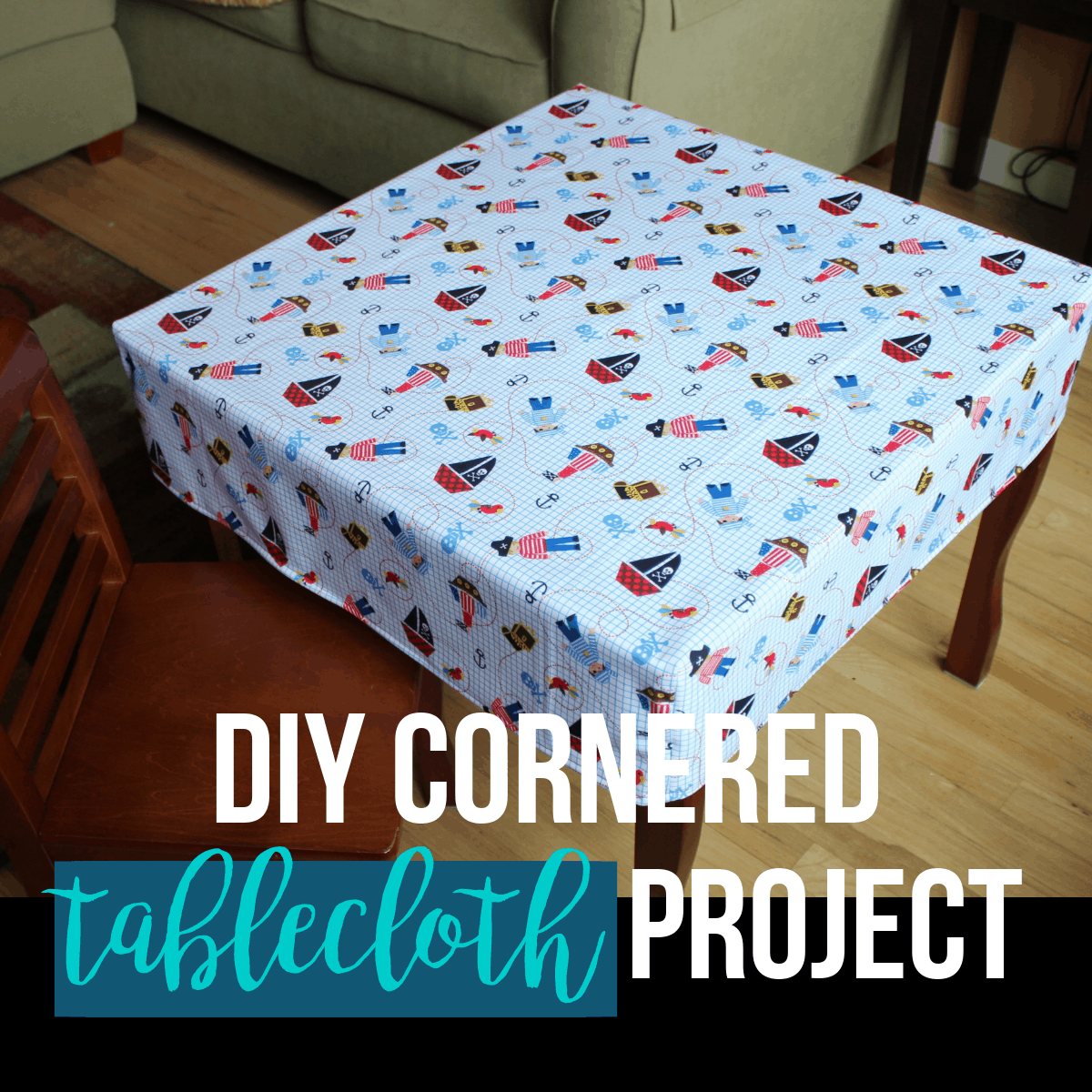 One Hour Kitchen Projects: DIY Cornered Tablecloth Tutorial (One-Hour Project