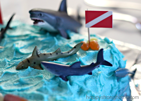 Great White Shark Birthday Cake