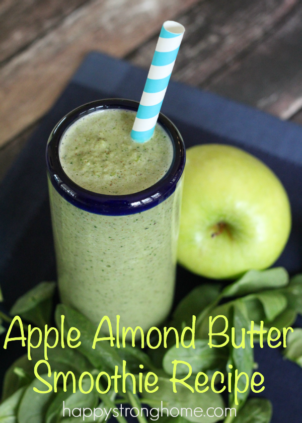 apple almond butter smoothie recipe