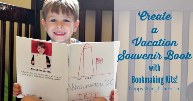 create a vacation souvenir with bookmaking kit