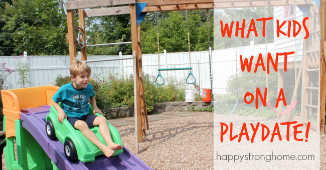 what kids want on a playdate