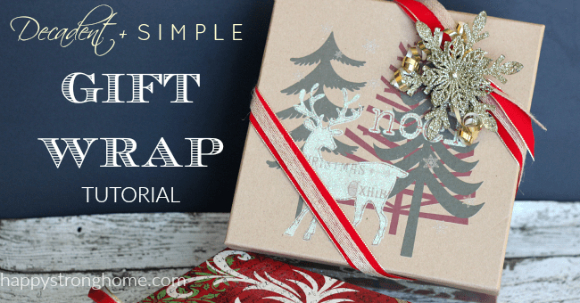 Decadent + Simple Gift Wrapping Tutorial