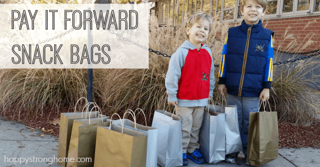 Pay it Forward snack bags