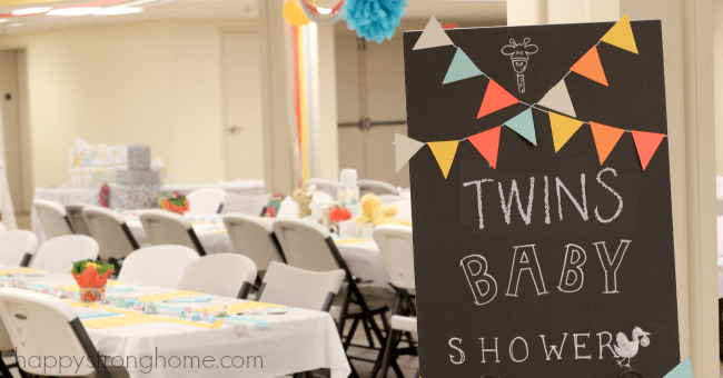 Animal Babies: A Twins Baby Shower Idea!