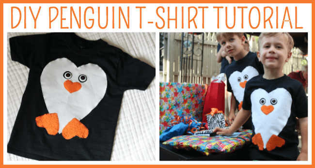 DIY Penguin T Shirt Craft