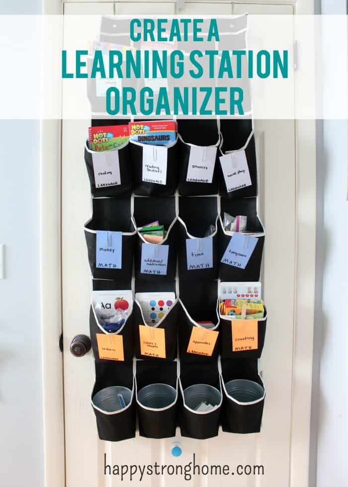 learning station organizer