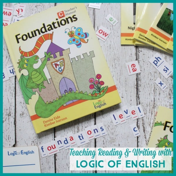 Teaching reading and writing with Logic of English ~ Foundations C review