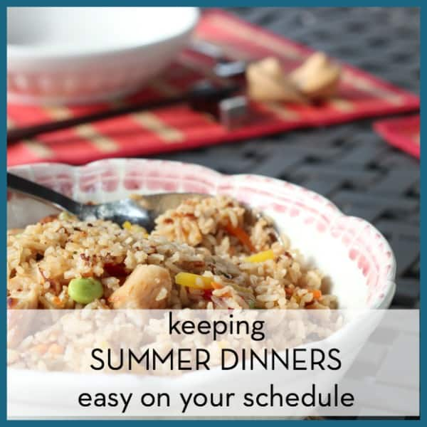 Keep summer dinners easy on your schedule