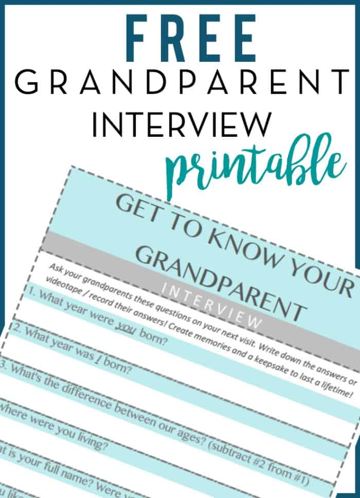Grandparents Day printable preview