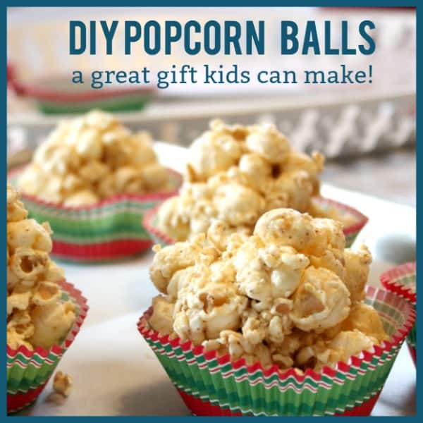 DIY Popcorn Ball Gifts Kids Can Make