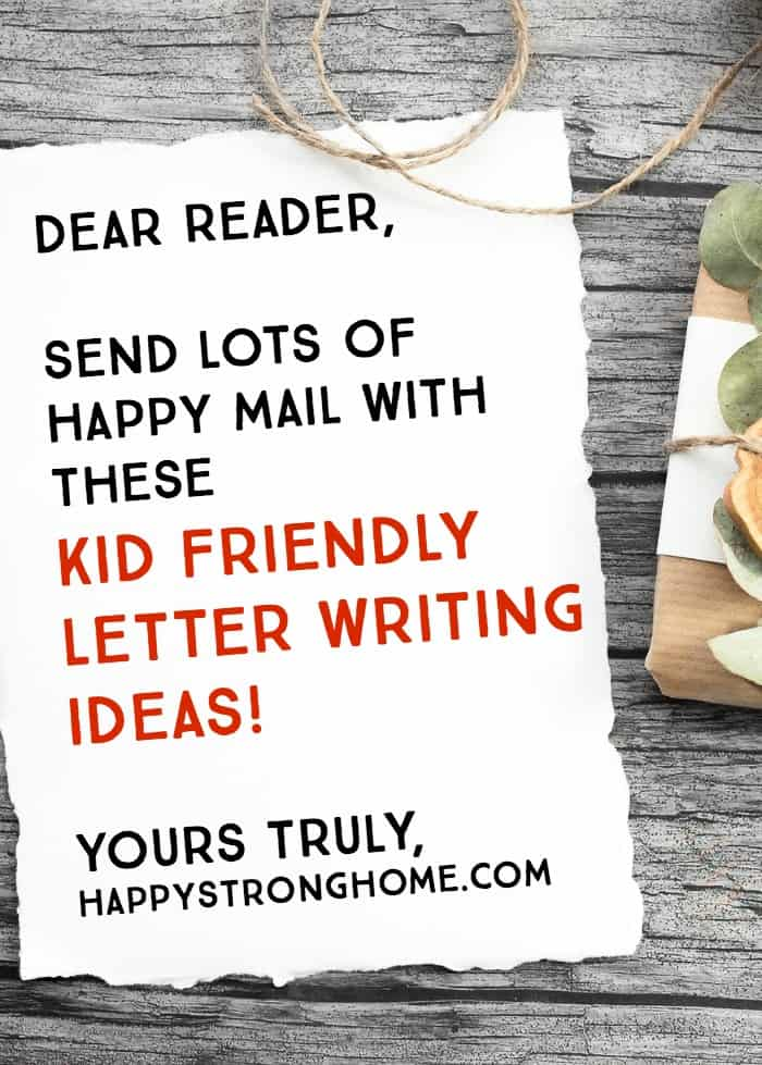 kid friendly letter writing