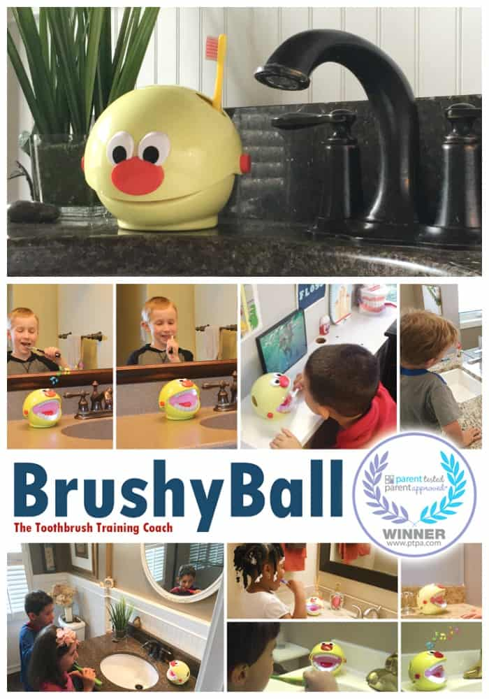 brushy ball toothbrush coach get kids teeth clean