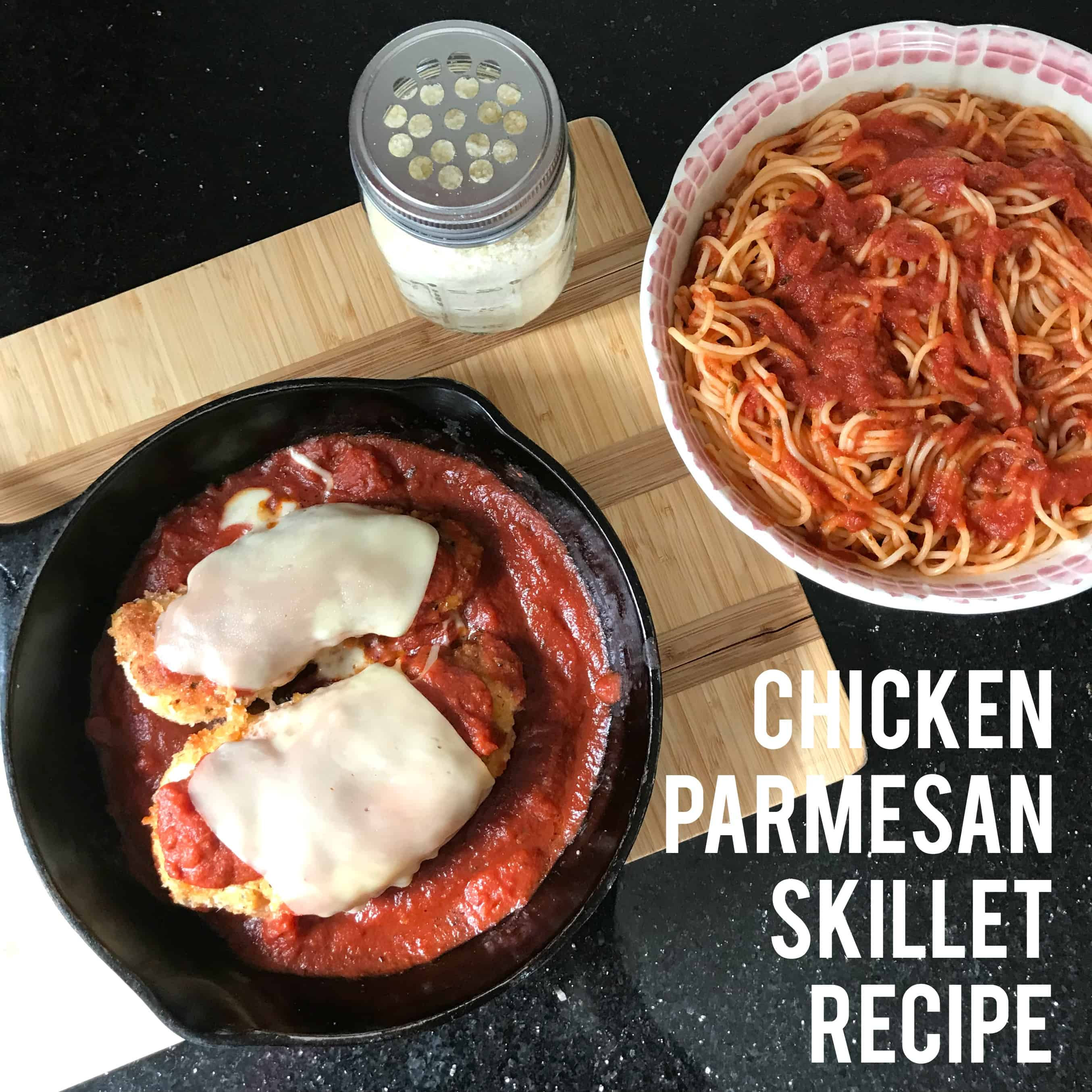 Simple Chicken Parmesan Skillet Recipe (PLUS Giveaway!)
