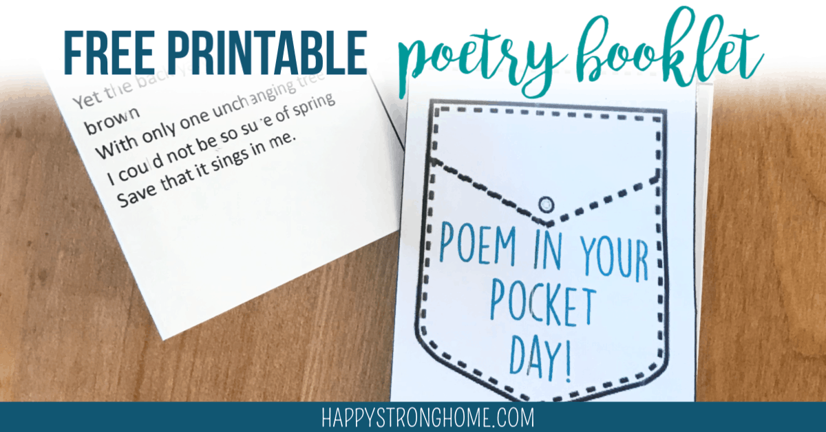 poem in your pocket day printable booklet
