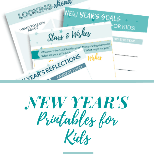 Goal Setting for Kids: New Year's Printables!