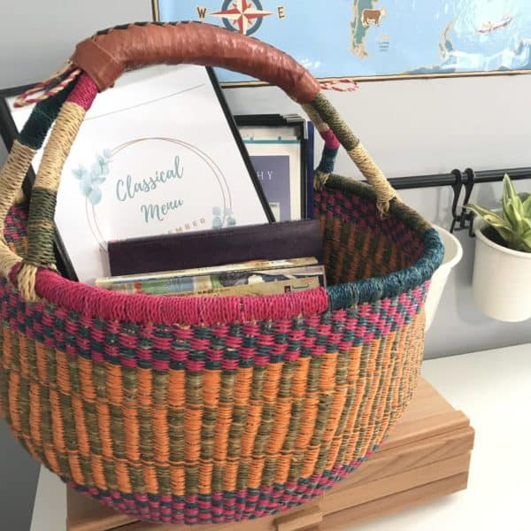 basket of books